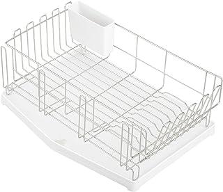レック マルチ 水切りかご (ワイド) SIAA抗菌、流れる/流れない選べるトレー、コップ・まな板スタンド付き、大皿対応