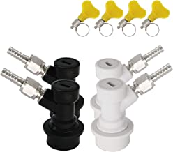 Ball Lock Disconnect, Keg Disconnect MFL 1/4 Thread, Ball Lock Keg Fittings, With Hose Clamps & Stainless Steel 5/16
