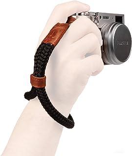 MegaGear mały bawełniany pasek na nadgarstek do aparatu - czarny