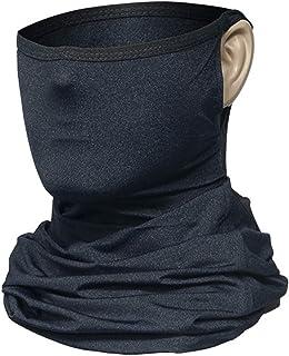 Tebrun Sun Dust Protection Neck Gaiter Balaclava Bandana Headwear, with Ear Loops Breathable Elastic Face Scarf Mask for H...