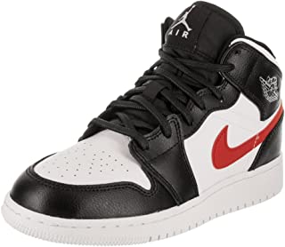 new arrival 93e4a 9043d Nike Jordan Youth 1 Mid Bg Leather Trainers