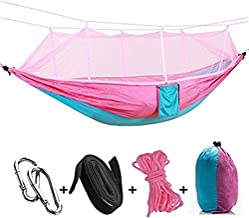 Double Hammock with Mosquito Net,DUMean Comfortable Bed Outdoor - Two People or Single Person for Camping, Backpacking, Survival, Travel & More,#01