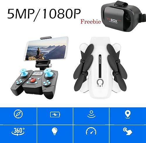 ERKEJI Drohne Gravity Sensing Fernbedienung Mini Quadcopter Spielzeug Flugzeug 720P   1080P FPV 110 ° Weißwinkel 90 ° einstellbare Kamera VR (geschenkbrille)