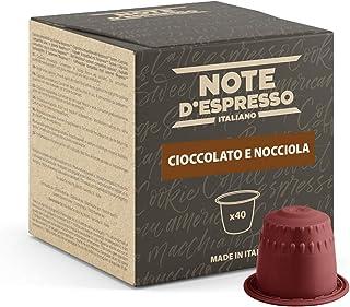Note d'Espresso - Chocolat à la Noisette - Capsules Exclusivement Compatibles avec Machine NESPRESSO* - 40 x 7 g