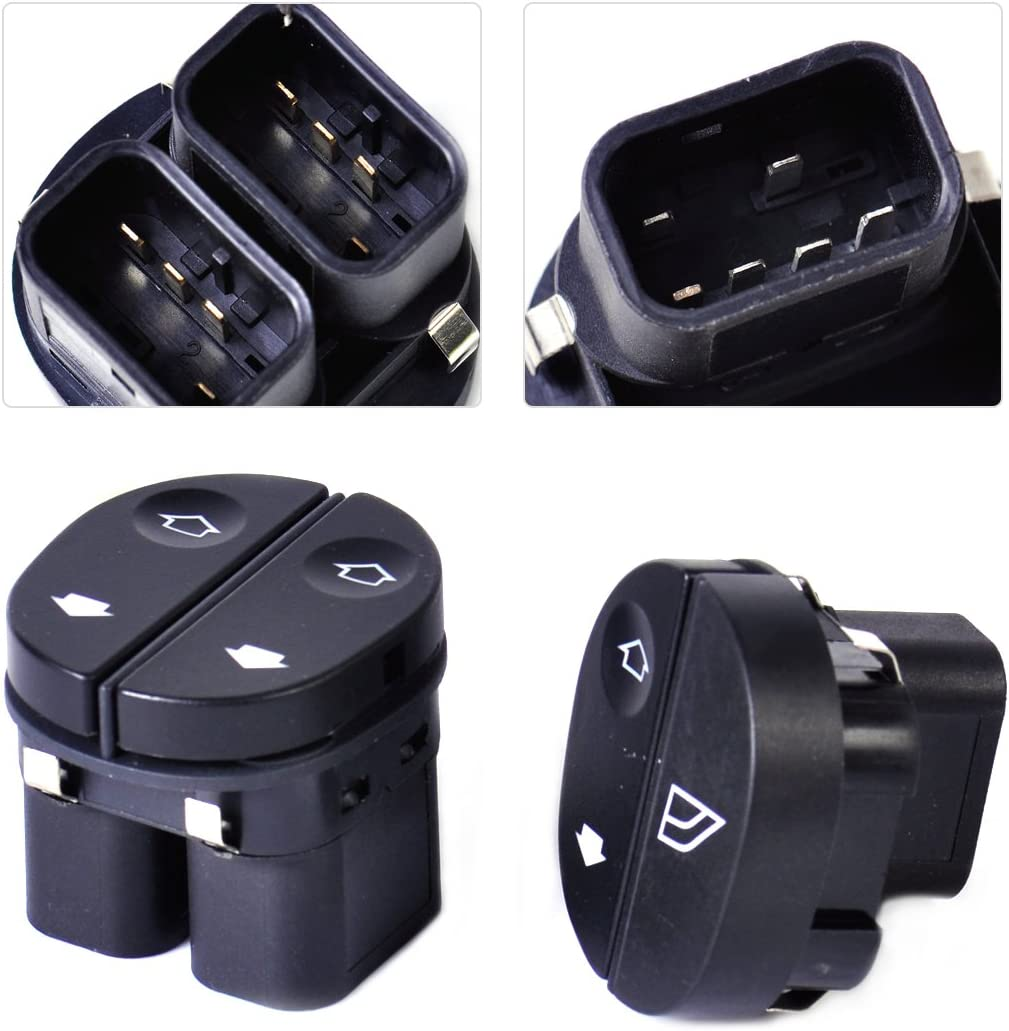 beler 2pcs Electric Power Window Switch for Ford Fiesta Fusion K