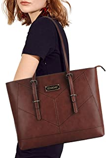 Laptop Bag,15-15.6 Inch Laptop Tote Bag,Casual Work Business Computer Bags for Women Shoulder Bag (Coffee)