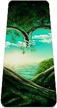 Yoga Mat - groene bomen vormen hart - Extra Dikke Antislip Oefening & Fitness Mat voor Alle Soorten Yoga, Pilates & Floor ...