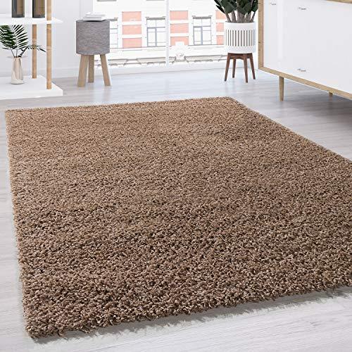 Paco Home Tapis Shaggy Longues Mèches en Différentes Tailles Et Coloris, Dimension:190x280 cm, Couleur:Beige