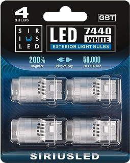 SIRIUSLED - GST- 7440 T20 Backup Reverse Trunk LED Lights Bulbs for Car Truck Super Bright High Power 2835 SMD White 6500K...