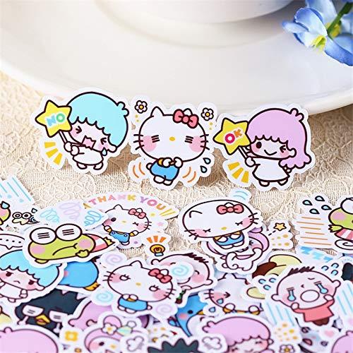 HUNSHA 40pcs Cartoon fairy Sticker Anime Funny Scrapbooking Stickers for Kid DIY Laptop Suitcase Skateboard Moto Bicycle Car Toy