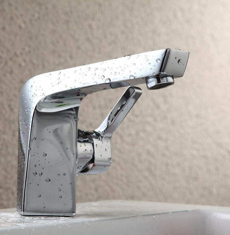 Messing warm und kalt Chrom Wasserhahn Badezimmer Mischbatterie Mischbatterie Einlochbatterie Badezimmer montiert