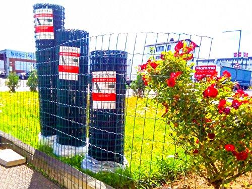 Set Gartenzaun, Schweißgitterzaun, Zaunset, Zaunpfosten, Maschendrahtzaun, Gitterzaun, Maschung 100x50x2.2mm (100 Meter Länge x 1.5m Höhe)