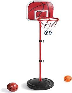 LANJU ミニ バスケットゴール バスケットボールセット 子供用 バスボールスタンド 高さ調節可能 二つボール付き 室内屋外兼用 (150CM)