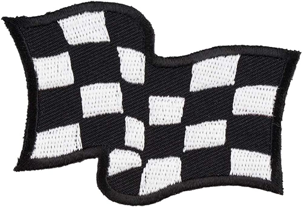 Waving Checkered Flag Long Beach Mall Patch Racing Patches Phoenix Mall