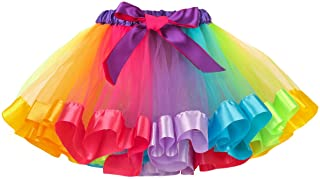 belababy Rainbow Tutu Skirt, Layered Ballet Skirts, Multicolor Tulle Dress Polyester for Toddlers, Girls &Women