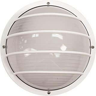 Solo Lights S761WF-LE26C-WH Bulkhead Wall & Ceiling Light, White 9W & 4000K LED Lamp Included