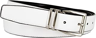 "Men's Reversible Genuine Smooth Leather Dress Casual Belt 1-1/8"" = 30mm wide"
