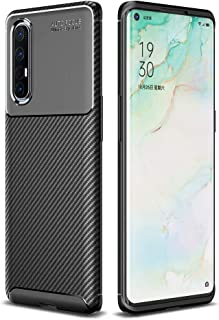 Soosos Case for OPPO Find X2 Neo Case Carbon Fiber Ultra thin TPU Soft Silicone Shockproof Anti-fall Cell phone Protective...