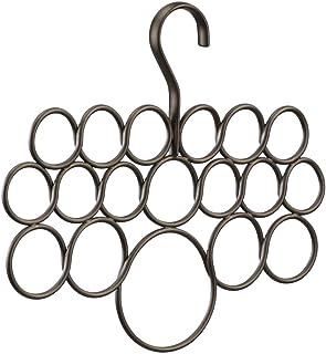 InterDesign Axis cintre à foulard avec 18 boucles, rangement à suspendre en métal pour foulards, fichus, cravates, ceintur...