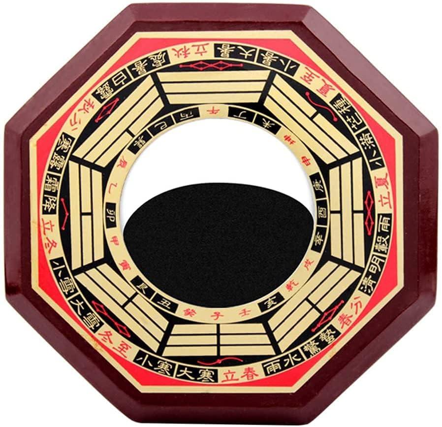 EIERFSKIOT Chino FengShui Bagua Espejo Feng Shui Decoracion Espejo cóncavo para protección contra energía Negativa pasiva y Espejo Convexo para protección contra energía nociva Activa(Color:Conca