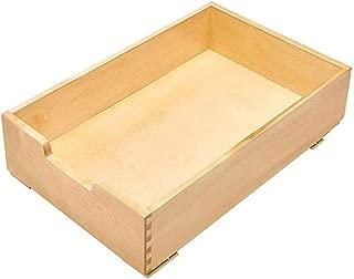 Rev-A-Shelf 4WDB-15 14 Inch Soft Close Wood Pull Out Organization Drawer, Maple