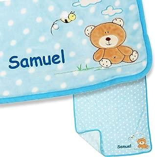 24 cm Sterntaler Spiel-Waschhandschuh B/är Baylee mit Namen bestickt Junge Junge Waschlappen f/ür Kinder /& Babys personalisiert Blau