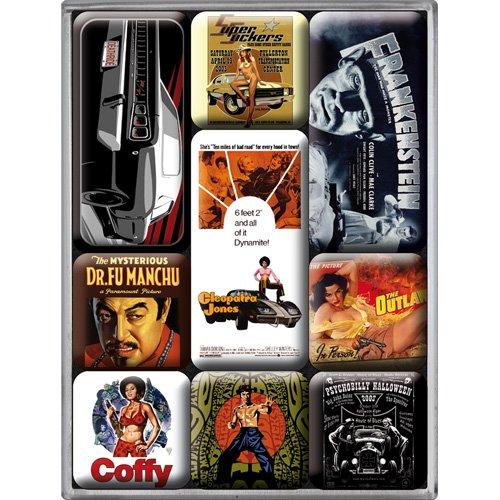 Nostalgic Art Magnet-Set 9-teilig, Celebrities - Movie-Art, Kleine