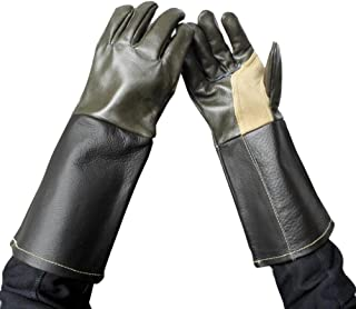 DAN W Leather Welding Gloves Extreme Heat Resistant & WEAR Resistant - for Tig Welders/Mig/Fireplace/Stove/BBQ/Gardening