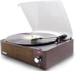 Record Player Turntable for Vinyl Records 3 Speed and USB Belt Driven Vinyl Record Player with Speakers Record Player Extr...