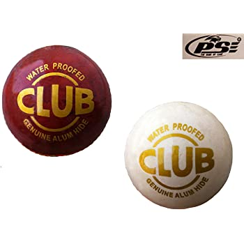 PSE Priya Sports COMBO4 Leather Cricket Ball (Multicolour, Pack of 2)