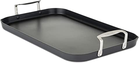 Viking Culinary Hard Anodized Double Burner Nonstick Griddle, 18 Inch by 11 Inch, Gray