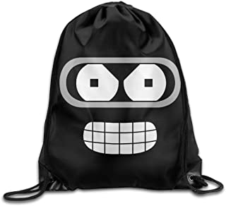 MDSHOP Futurama Bender Face Drawstring Backpack Sack Bag