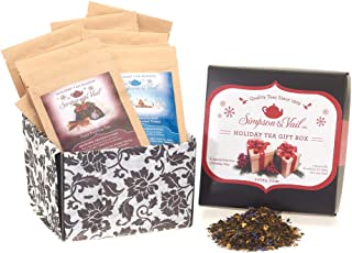 Simpson & Vail, Holiday Gift Sampler Assortment Variety Box, Loose Leaf Tea - 1 Box / 10 Packages