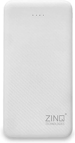 Zinq ZQ10KPC 10000Mah Lithium Polymer Power Bank With Dual Input White