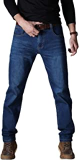 Men's Spring and Autumn Straight Jeans, Simple Version Business Loose Large