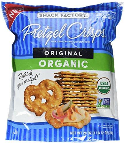 Snack Factory Pretzel Crisps Original ORGANIC 28 oz Bag