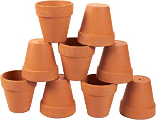 Juvale Terra Cotta Pots - 9-Count Terracotta Pots, 3.5-Inch Mini Flower Pots with Drainage Holes, Clay Flower Pots Small Ceramic Pottery Nursery Planters for Cacti and Succulent Plants