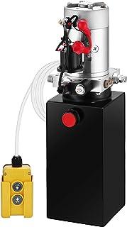 Mophorn 8 Quart 12V Hydraulic Pump Dump Truck Hydraulic Power Unit Hydraulic Dump Trailer Pump (Steel, 8 Quart/Single Acting)