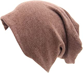 Century Star Unisex Women Thin Solid Baggy Slouchy Oversized Cotton Sleep Beanie Hat Skull Cap