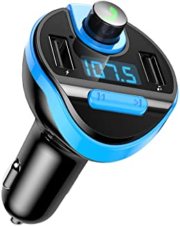 Criacr Bluetooth FM Transmitter Light Blue