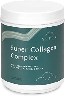 Super Collagen Complex Multi-Collagen Peptides Supplement with CoQ10 and Biotin, Hydrating, Strengthening, and Rejuvenating to Keep Your Heart, Skin, Hair, and Nails Healthy