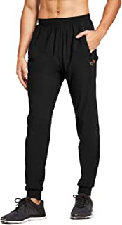 BALEAF Men's Athletic Joggers Dry Fit Running Gym Pants Zipper Pockets Sports Pants