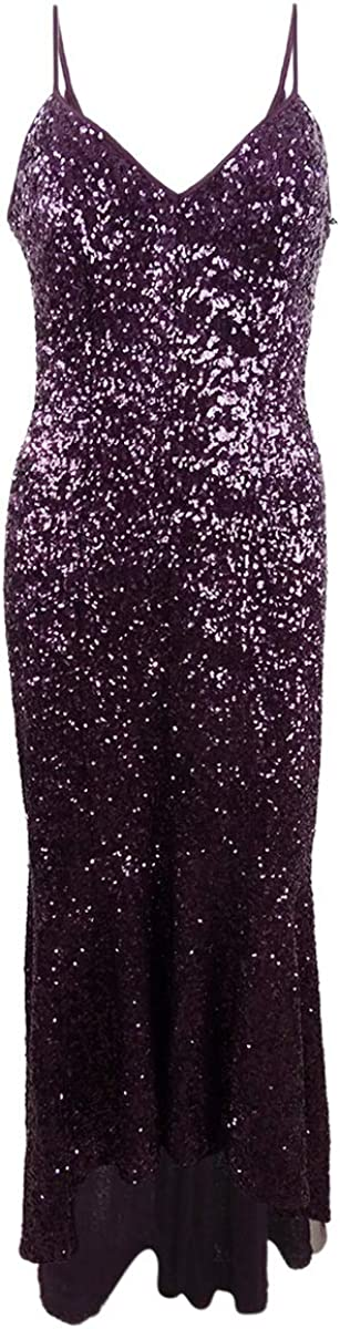 Vince Camuto Women's High-Low Sequin Gown