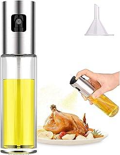 Oil Sprayer Dispenser,Olive Oil Sprayer, Spray Bottle for Oil Versatile Glass Spray Olive..