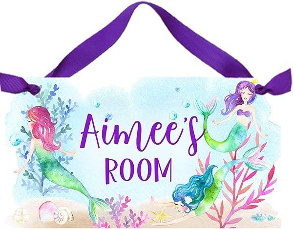 Toad And Lily Mermaids Door Sign Flowers Bedroom Nursery Wall Art Decor DS0595