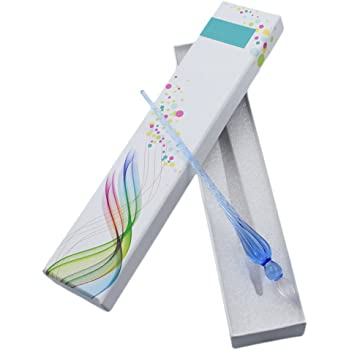 Myoffice ガラスペン サインペン ビジネスギフト 文具 ボックス付け (ブルー)