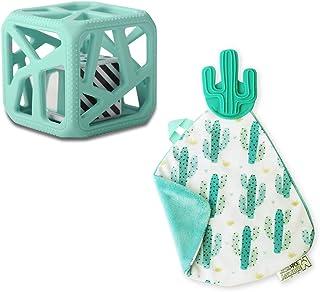 Malarkey Kids Teething Toy - Chewcube + Munch it Blanket, Pack of 1