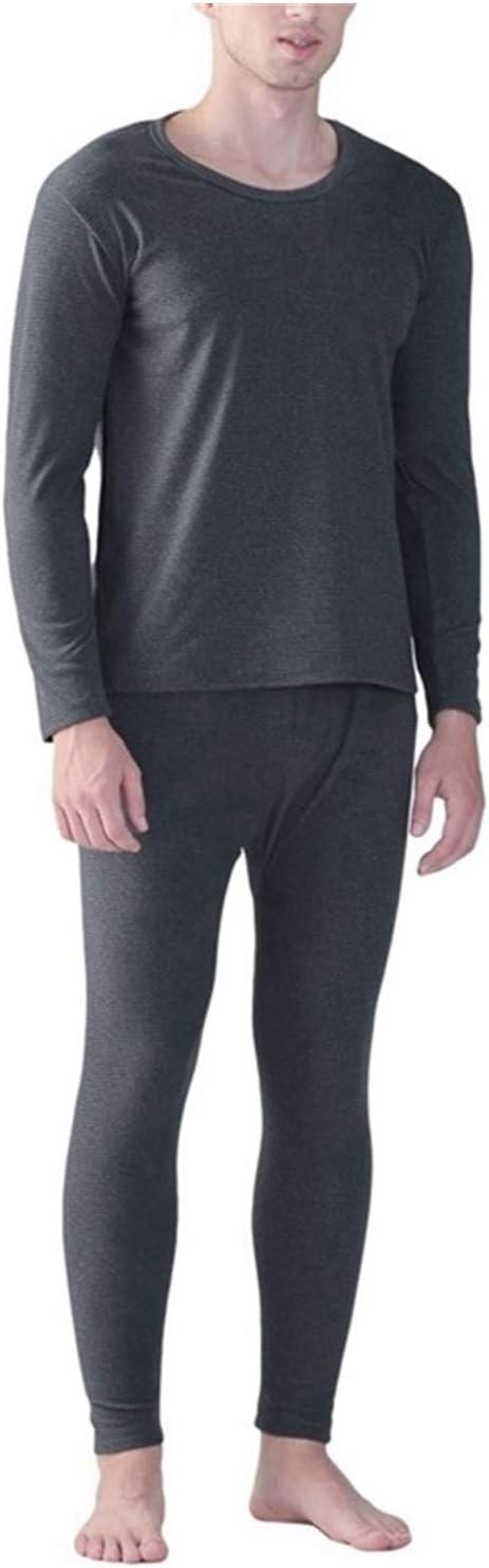 Jinqiuyuan Autumn Winter 9XL 10XL Men Long Johns Thermal Leggings Underwear Plus Size 7XL 8XL Elasticity Man Soft Underwear Pants Bottoms (Color : Gray, Size : 10XL 140 150kg)