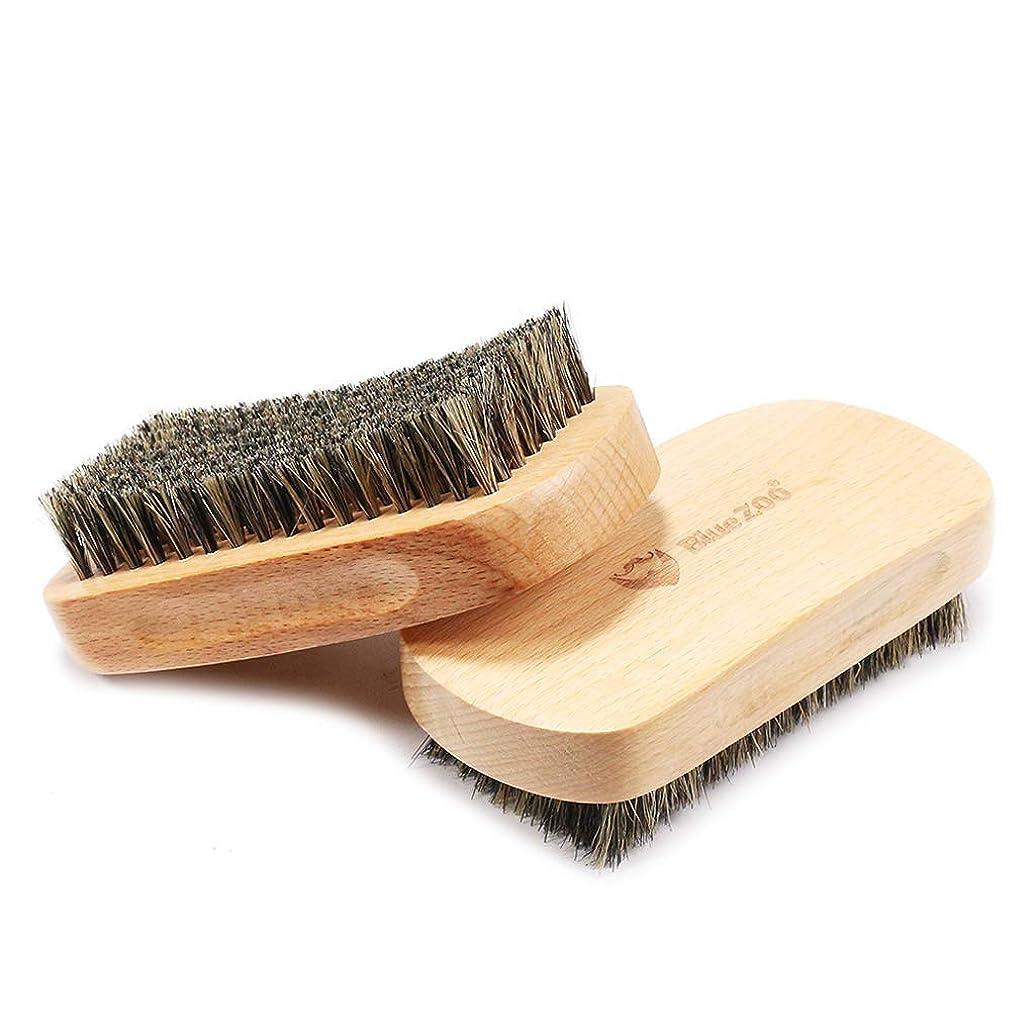 ナイロン寄生虫明日P Prettyia ひげブラシ シェービングブラシ メンズ 毛髭ブラシ ひげ剃り 硬い剛毛 理容 洗顔 髭剃り
