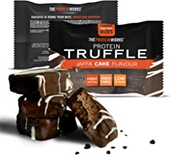 The Protein Works Protein Truffles, High Protein Snack, High Fibre, Low Sugar, Jaffa Cake, Single